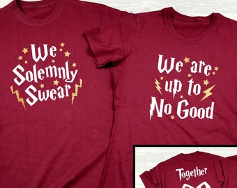 a21e392b We Solemnly Swear We Are Up To No Good Together Since Custom Couples Set Harry  Potter Inspired