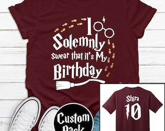 Personalised Custom T-Shirt Kids Tee Children/'s Harry Potter Inspired Vinyl