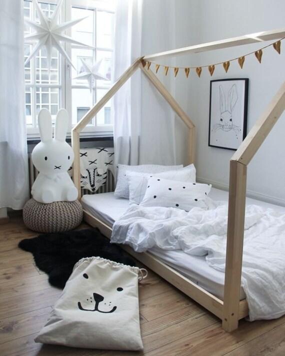 Bett 90 X 200 Baby Kleinkind Bett Haus Zu Haus Etsy