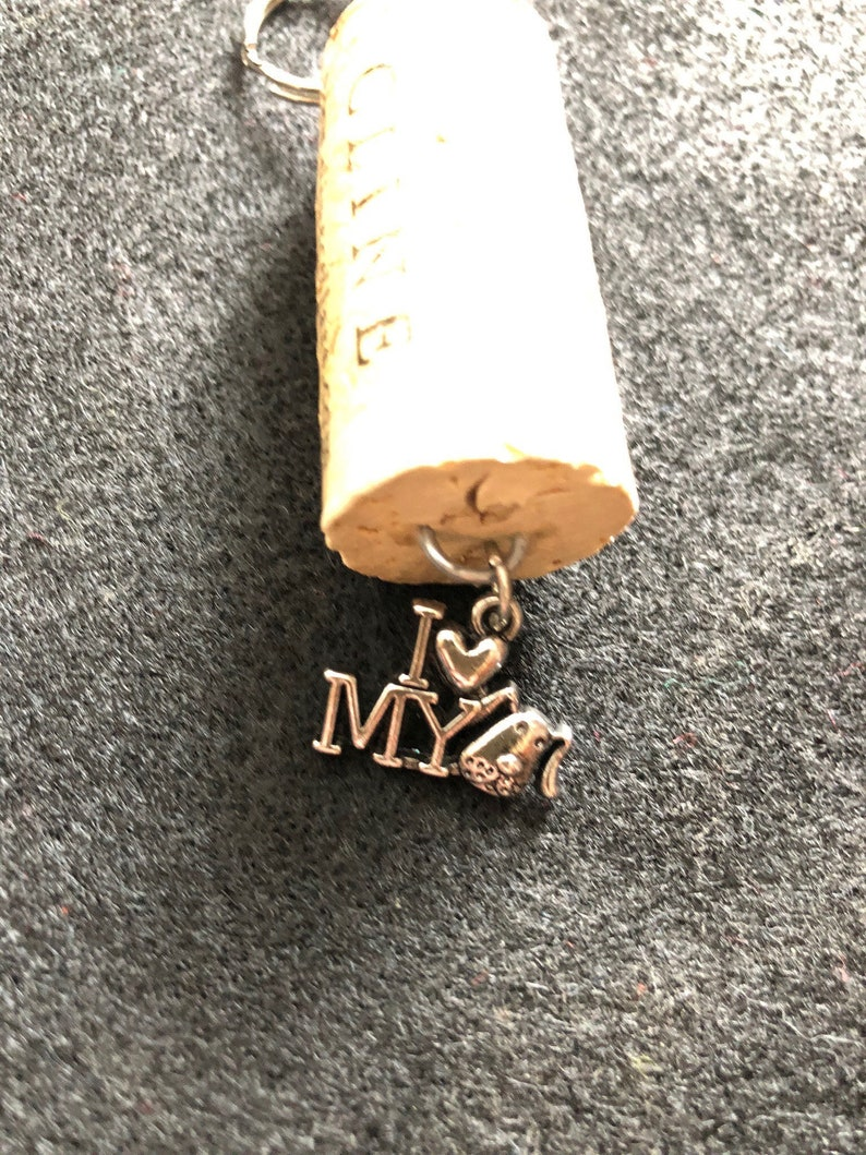 Wine Cork Keychain Staying Alive