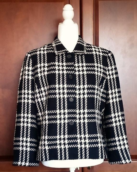 Villager Houndstooth Jacket by Liz Claiborne Size