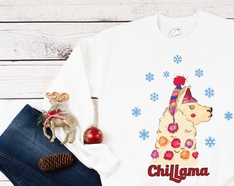Llama Ugly Christmas Sweater Fa La La Christmas Sweatshirt Etsy