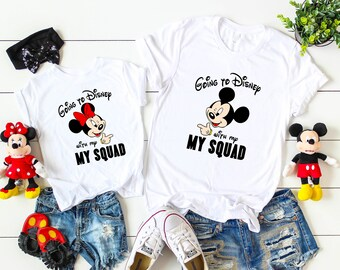 11e87dc38ff11 Personalized Minnie Mouse shirt,Toddler Girls White TShirt,Disney Family  Matching Shirts,Disney vacation shirts,Disney squad shirts D64