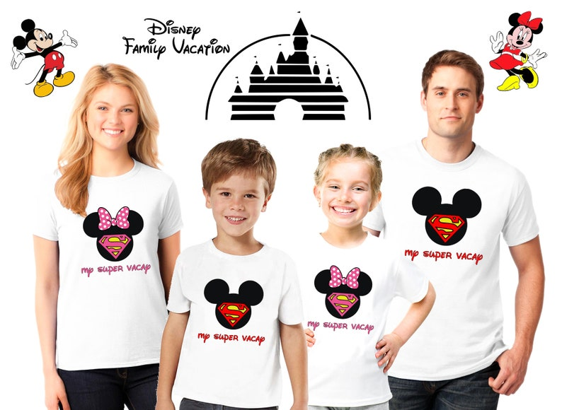 fc52492b Disney matching Family shirts with Super Vacay Disney family | Etsy
