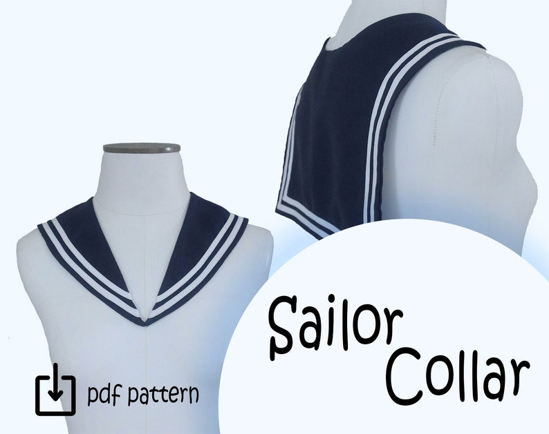 1920s Patterns – Vintage, Reproduction Sewing Patterns Sailor Collar PDF Pattern $3.00 AT vintagedancer.com