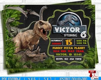 Jurassic World Invitation Park Invite Digital Birthday Children Printable Card