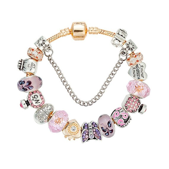 Fashion butterfly European Silver CZ Charm Beads for Necklace Bracelet Chain