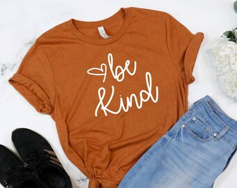 Be Kind Inspirational Teacher Positive Quote Shirts, Back to School Premium T-Shirt, Woman's Kindness Tee, Positive Vibes Ladies UNISEX FIT