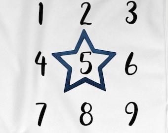 Star Milestone Marker, Blue Milestone Blanket Marker Set, Stars Month Marker, Nautical Wreath, I Love you to the Moon, Baby Boy Photo Props
