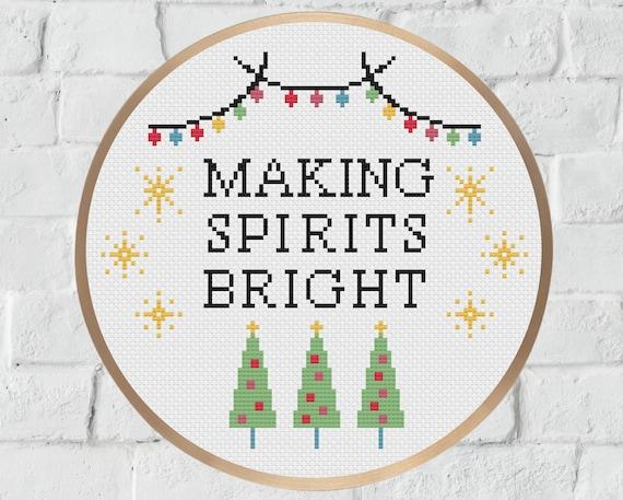 Counted Cross StitchDigital FileInstant DownloadPDF File Cute Christmas Design