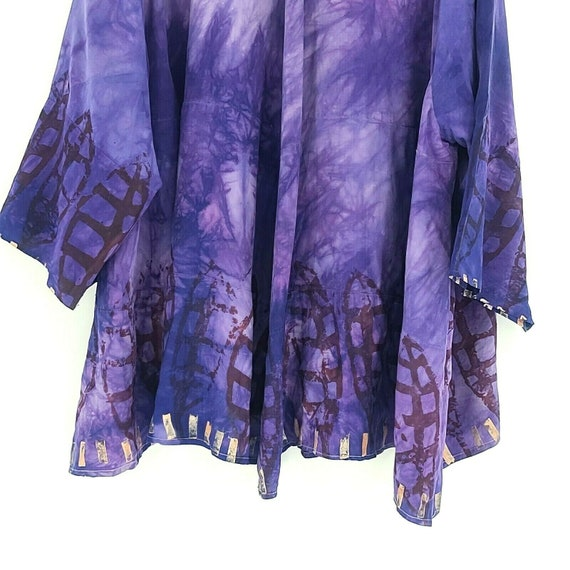 Laise Adzer womens Vintage 1980's Hand Painted Si… - image 6