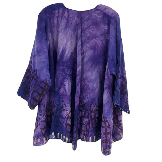 Laise Adzer womens Vintage 1980's Hand Painted Si… - image 2