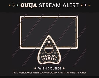 Animated Gothic Stream Alerts - Ouija Planchette Livestream Notifications