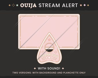 Ouija Planchette Stream Alerts - Pretty Pastel Goth Twitch or Youtube Notifications / Activity Alerts