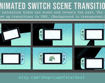 Nintendo Switch OBS Stinger Transition ACNH Scene Transition for Twitch, Youtube, SLOBS, Streamlabs, Twitch Live etc
