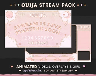 Ouija Board Stream Theme Pack Animated + Ready to Use! Twitch, YouTube Spooky Stream Package