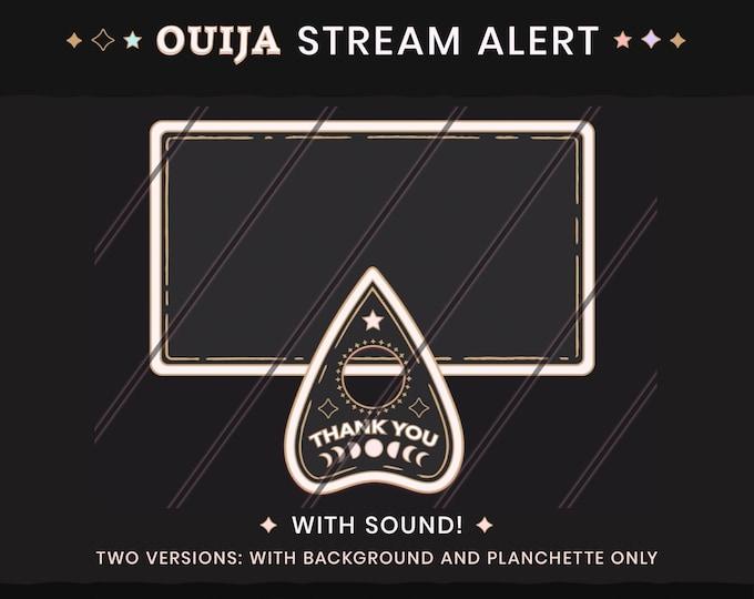 Animated Gothic Stream Alerts - Ouija Planchette Livestream Notifications