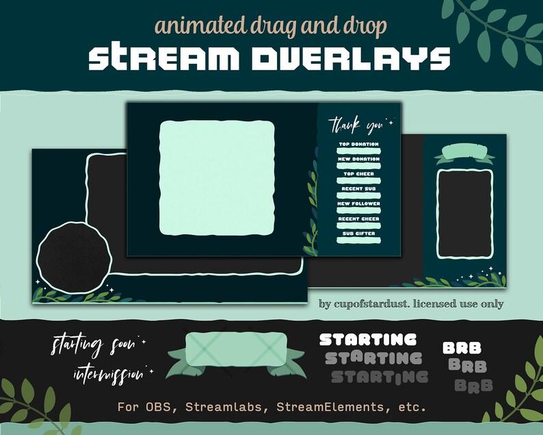 Leaf  Star Twitch Overlay Design Pack  Stream Overlays for image 0