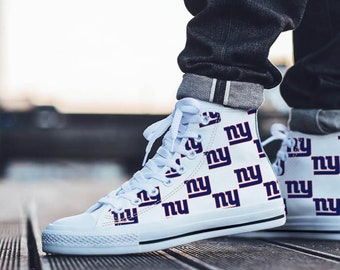 d59c2e36cb2 New York Giants Fan Unofficial - Football Fan - Personalized  Shoes Sneakers Trainers - Ladies   Mens
