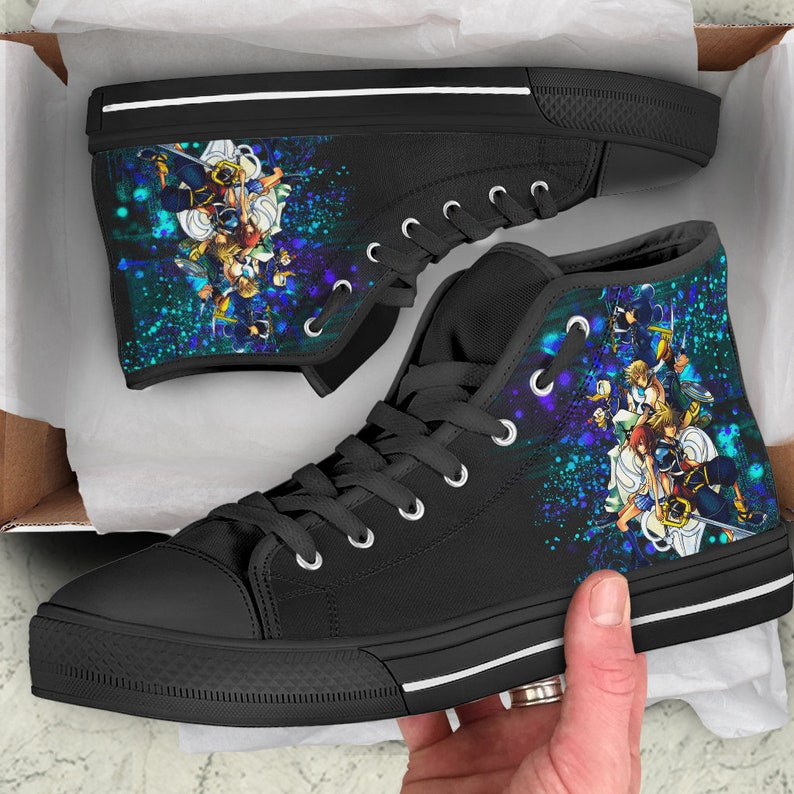 Kingdom Hearts Shoes | Gamer Sneakers | Unofficial Personalized Converse Style Shoes