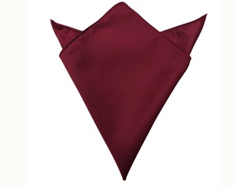 Mens Satin Square Pocket Handkerchief Hanky Violet