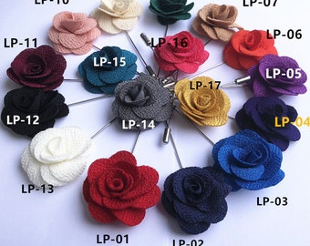 c74745841 3.8CM Rose Flower Lapel Pin Men Wedding Accessories Brooches Pin,Groomsmen  Boutonniere Buttonhole Fashion Wedding Tuxedo Suit Pin