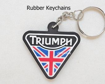 Triumph Vitesse MK2 Rectangle Black Leather Keyring