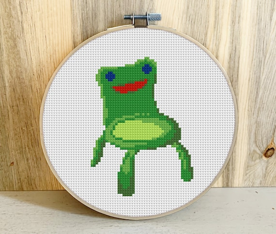 Froggy Chair Cross Stitch Pattern Pdf Download Etsy