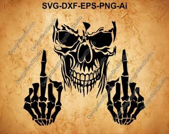 0fd379bae950a Skull SVG , skeleton SVG, Skull Clipart, Skull Cut Files For Silhouette,  Files for Cricut, Skull Vector, Svg, Dxf, Png, Eps, Ai Design
