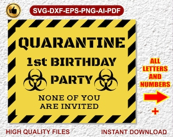 Birthday Party Svg Etsy