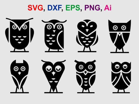 Owl Svg Owl Clipart Owl Cut Files For Silhouette Files For Etsy