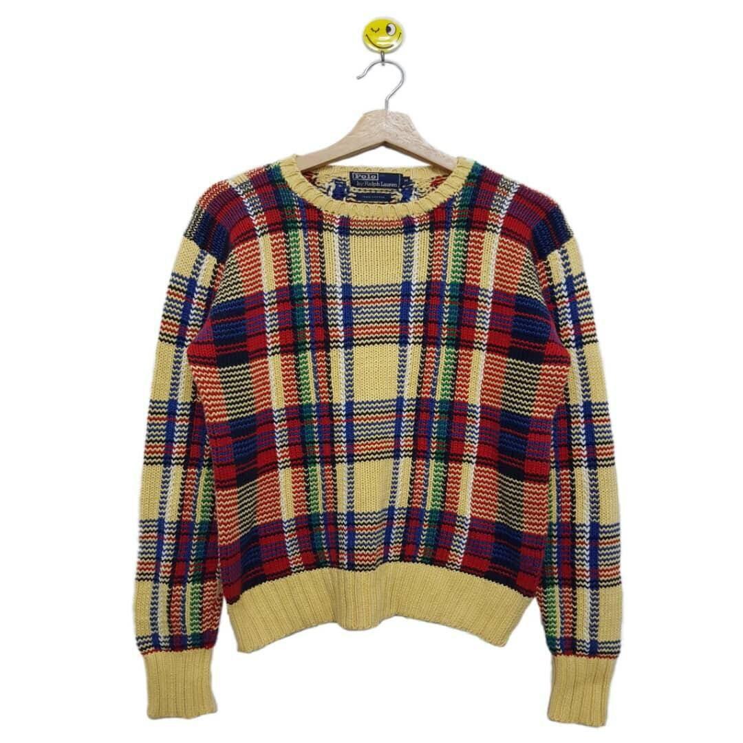 d6726a18e1c438 Rare ! 90   s Polo Lauren par Ralph Lauren Polo tricots fc2dfb ...