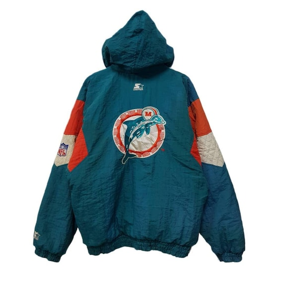 online store 2a7f4 0e160 Rare ! Starter Nfl Miami Dolphins Jacket