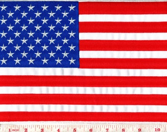 3316a80a174 American flag old glory stars and stripes USA United States oversize BIG XL  7.75 x 11 inches diy embroidered applique iron-on patch S-1040