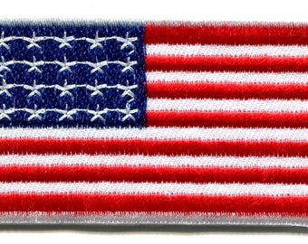 f6d605c84e0 American flag old glory stars and stripes USA United States of America diy  embroidered applique iron-on patch size Medium S-100