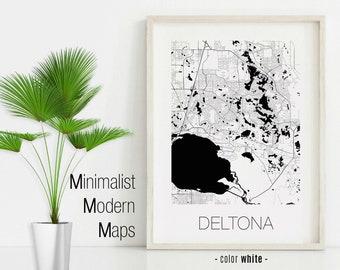 Deltona map | Etsy