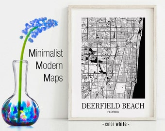 Deerfield Beach Florida Map.Deerfield Beach Etsy
