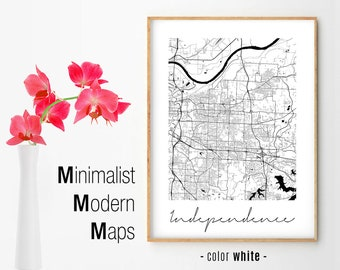 Independence Mo Map Etsy