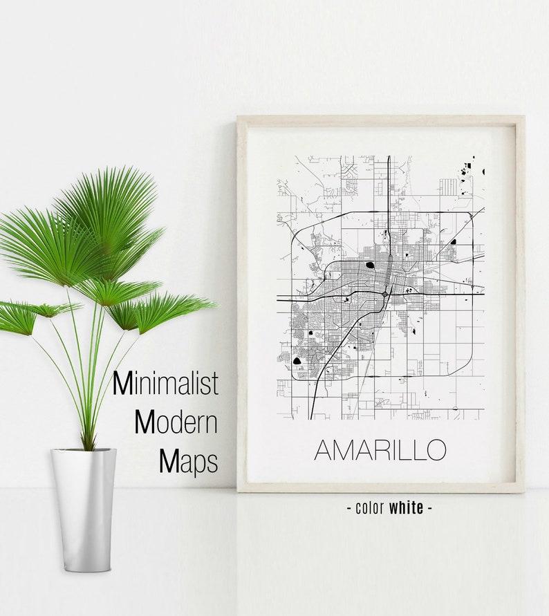 Map Of Texas Amarillo.Amarillo Texas Amarillo Tx Map Amarillo Map Amarillo Print Etsy