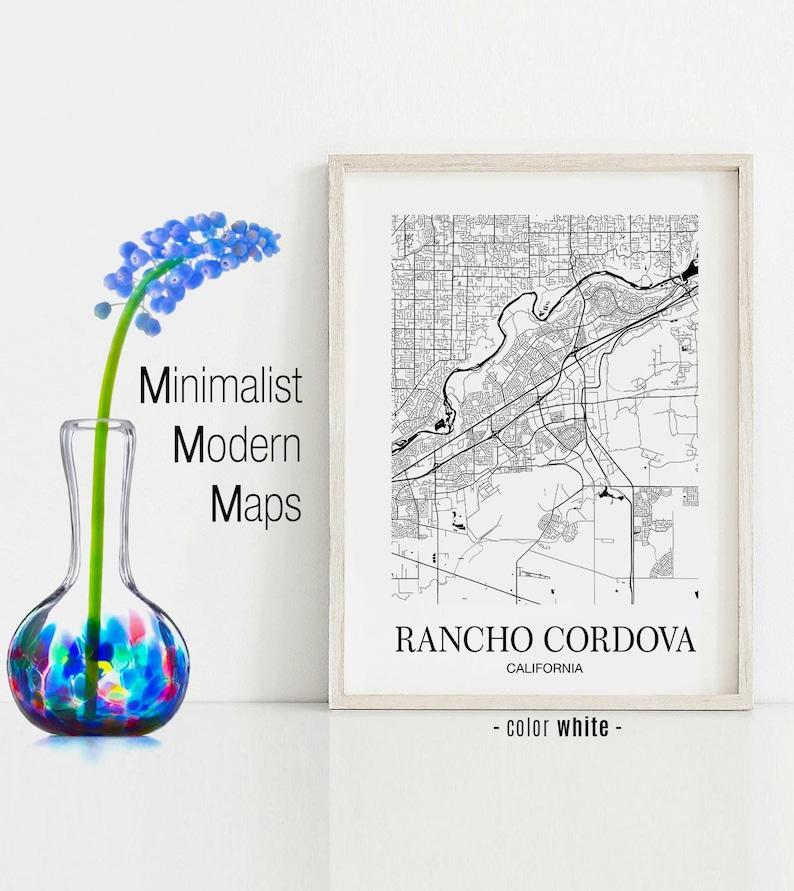 Rancho Cordova California Map.Rancho Cordova Rancho Cordova Ca Map Rancho Cordova Modern Etsy