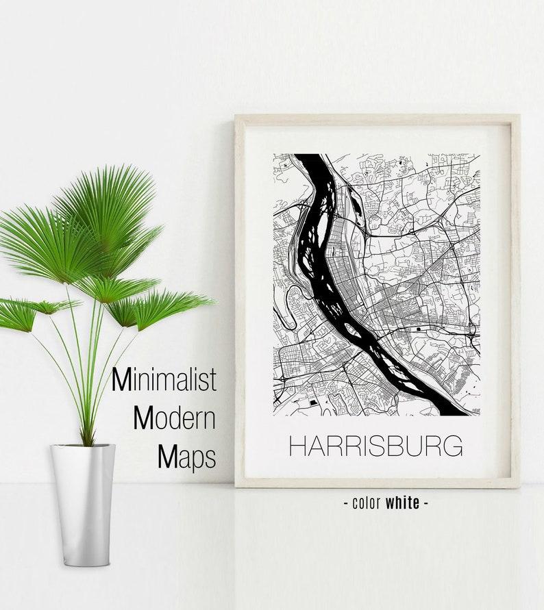 Harrisburg Pennsylvania Harrisburg map Harrisburg print Harrisburg poster Harrisburg wall art Black and White Map Harrisburg PA map