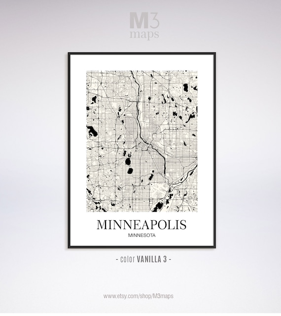 Minneapolis, Minneapolis MN map, Minneapolis modern art print, Minneapolis  Wall Art Map, Minneapolis contemporary art, Home Decor