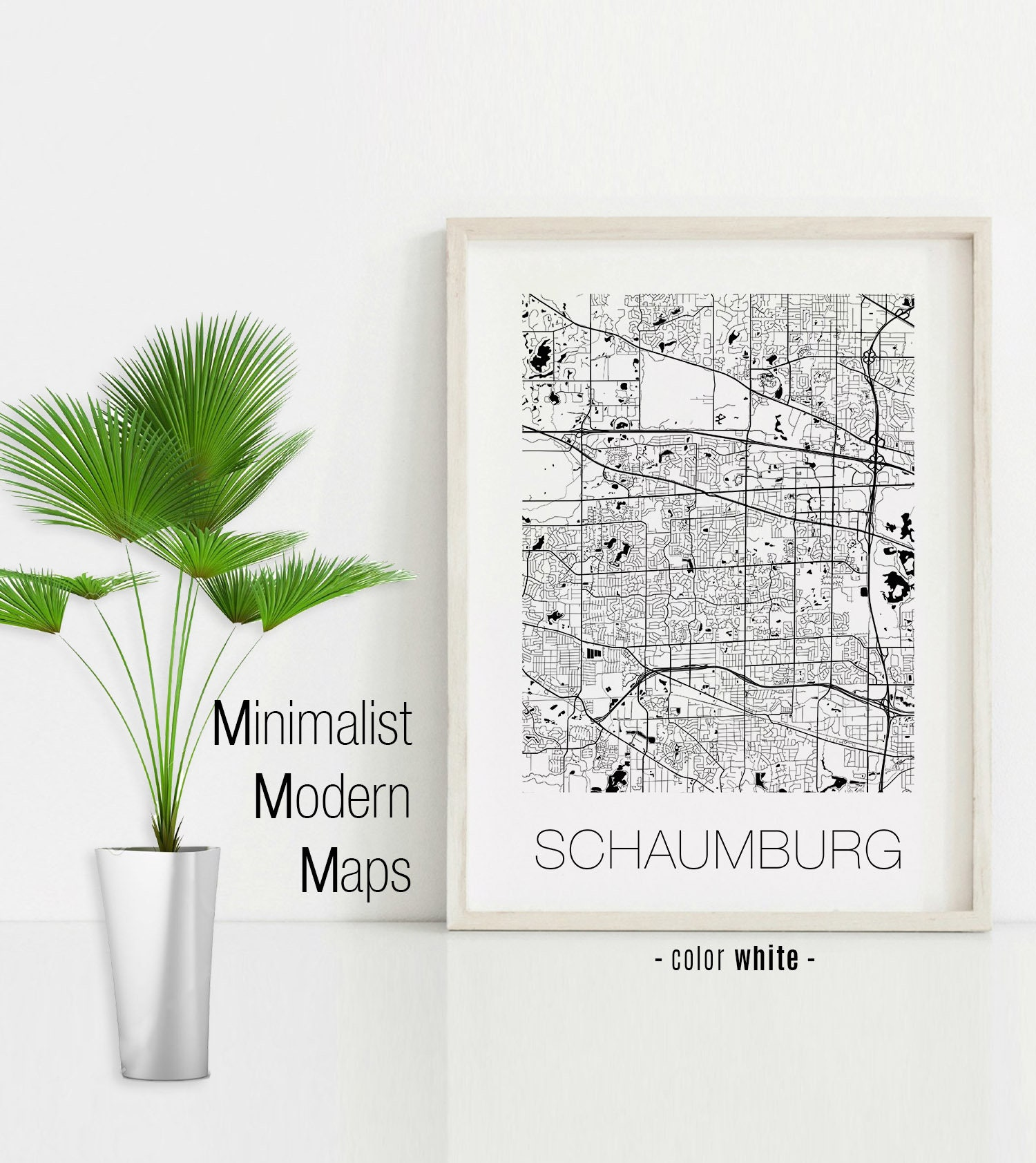Schaumburg Illinois Map.Schaumburg Illinois Schaumburg Il Map Schaumburg Map Etsy