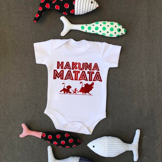 Hakuna Matata Lion King Cute Unisex Baby Grow Bodysuit