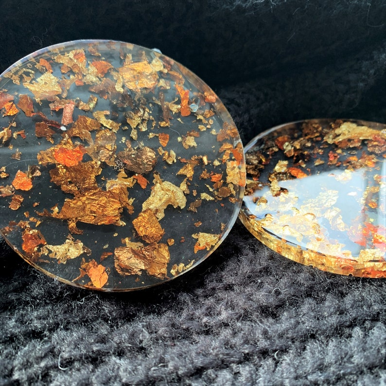 Jewellery Dish Ring Dish Resin Art Ring Bowl Autumn Resin Coaster Set Fall Decor Accessory Dish Decorative Tray Set of Two