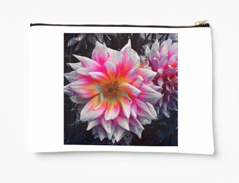 Made to order Medium Size Face Mask Holder Pink Flower Image