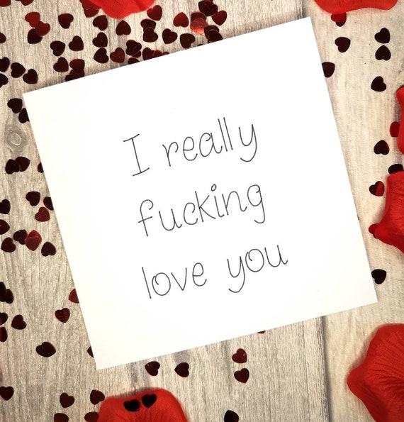 RUDE SWEAR VALENTINE/'S card  boyfriend girlfriend cheeky dickhead cock