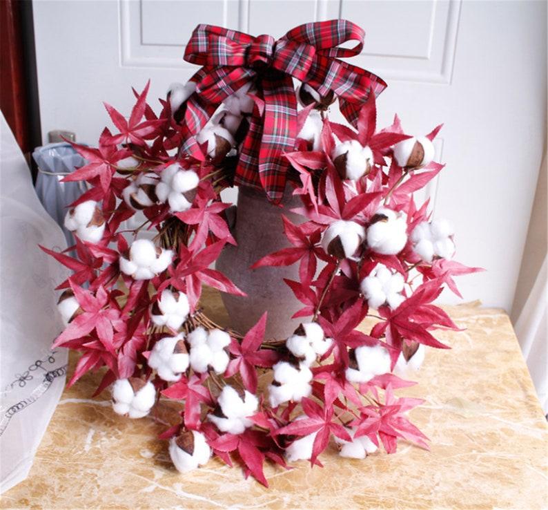 Maple leaf Wreath,Wreath for Front Door,Silk Flower Wreath,Everyday Wreath,Wreath for Decor,Floral Wreath,Handcrafted Wreath