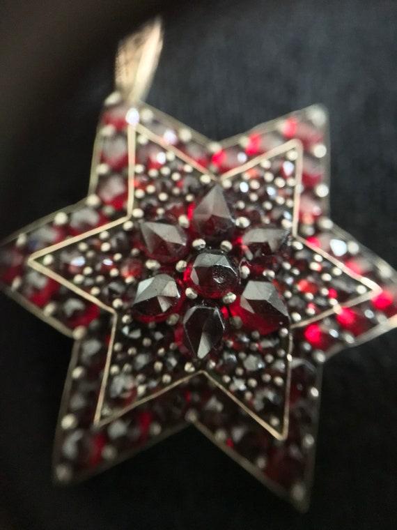 Garnet Star Brooch