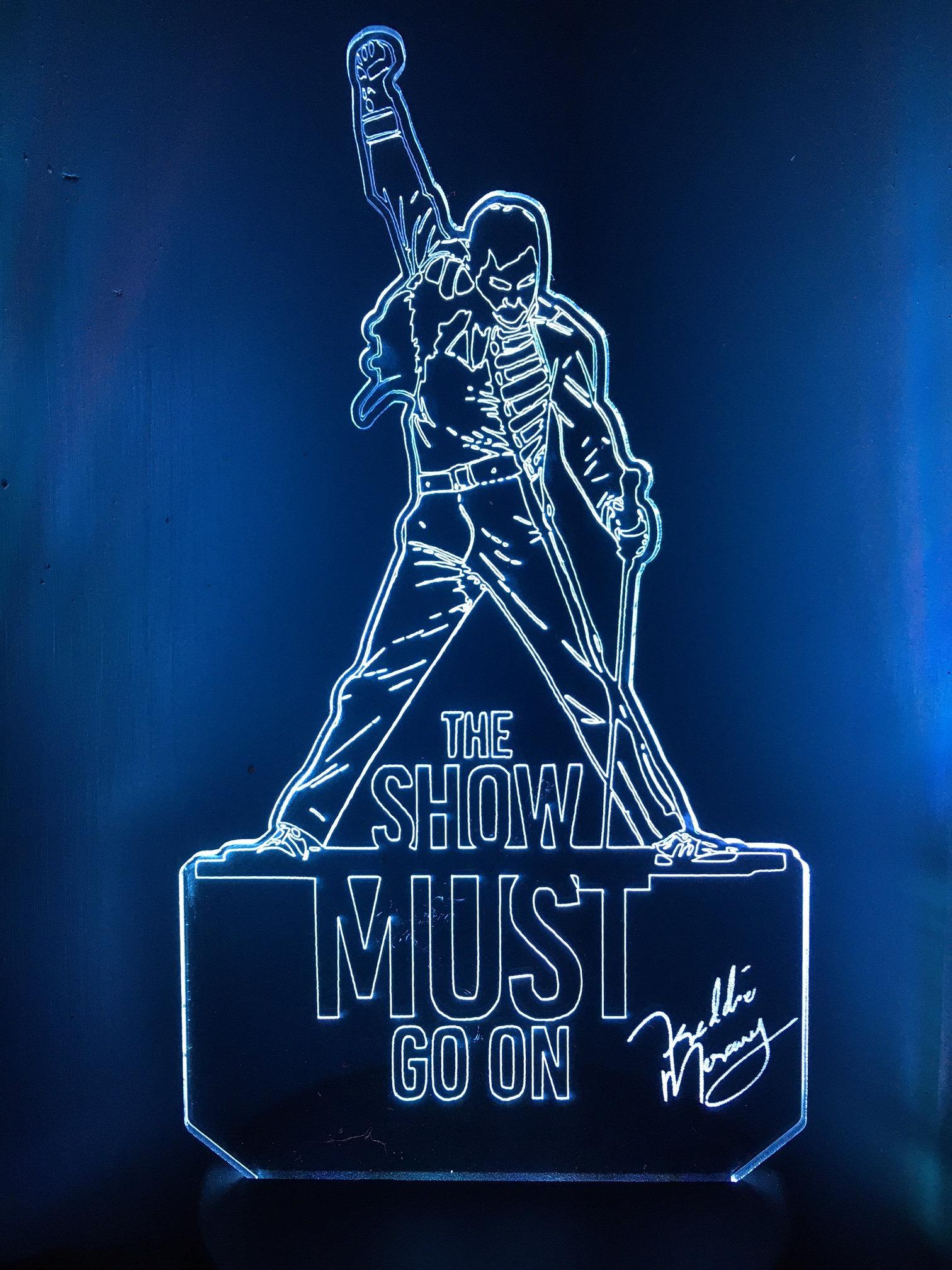 Freddie Mercury 3D LED Light - Personalized Gift [LED-Freddie-1]
